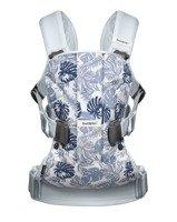 BABYBJORN ONE - nosidełko ergonomiczne, jasnoniebieski/motyw liści