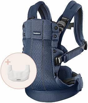 BABYBJORN - nosidełko Harmony 3D Mesh, Granatowy + śliniaczek do nosidełka Harmony
