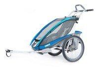 Przyczepka rowerowa dla dziecka - THULE Chariot CX1 - niebieska