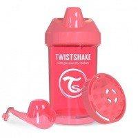 Twistshake - Kubek niekapek z mikserem do owoców, brzoskwiniowy 300ml