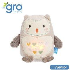 Gro Company - Sowa Ollie Szumiąca Przytulanka z czujnikiem płaczu i lampką nocną
