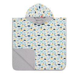 Lassig Ręcznik Poncho Paper Boat 120x60 cm UV 50+, 12-36 m-cy