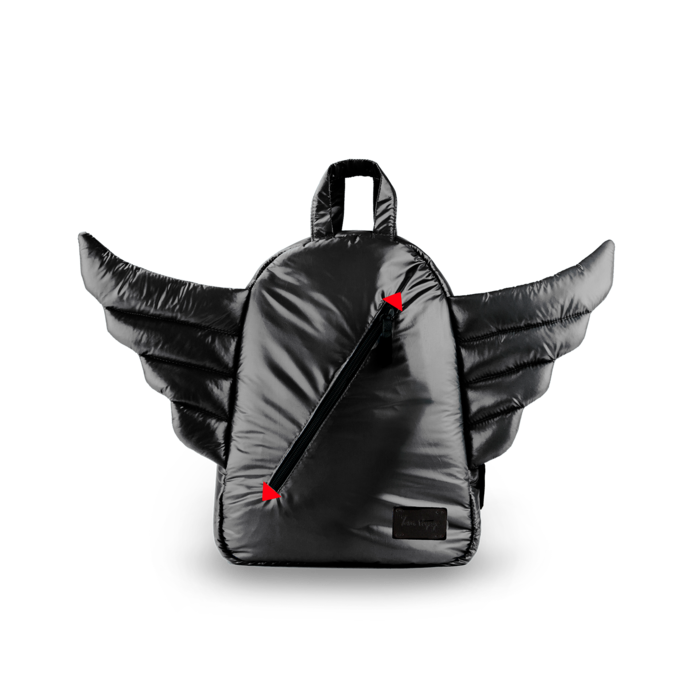 7AM - Plecak BackPack MINI WINGS Black