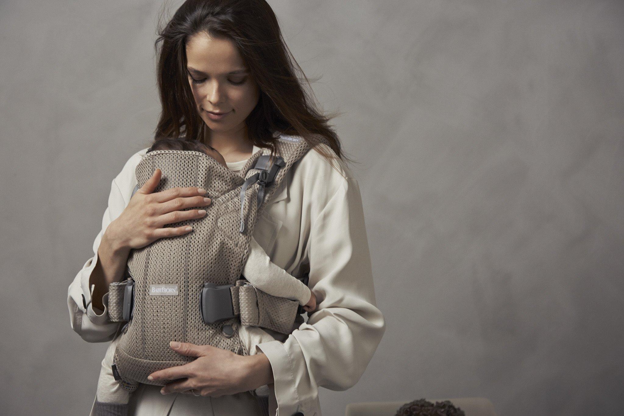 BABYBJORN ONE AIR - nosidełko, Greige