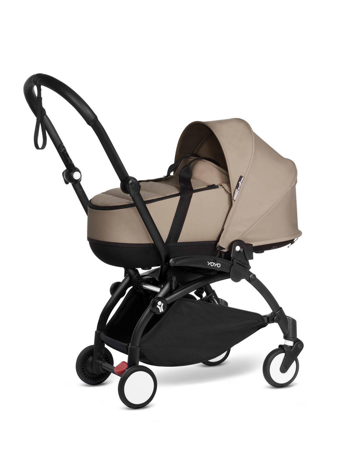 BABYZEN YOYO² - kompletny zestaw czarna rama/gondola/tapicerka 6+ - Taupe