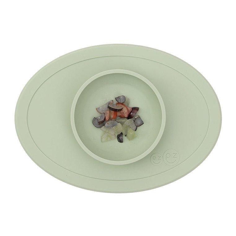 EZPZ - Komplet pierwszych naczyń silikonowych First Foods Set, pastelowa zieleń