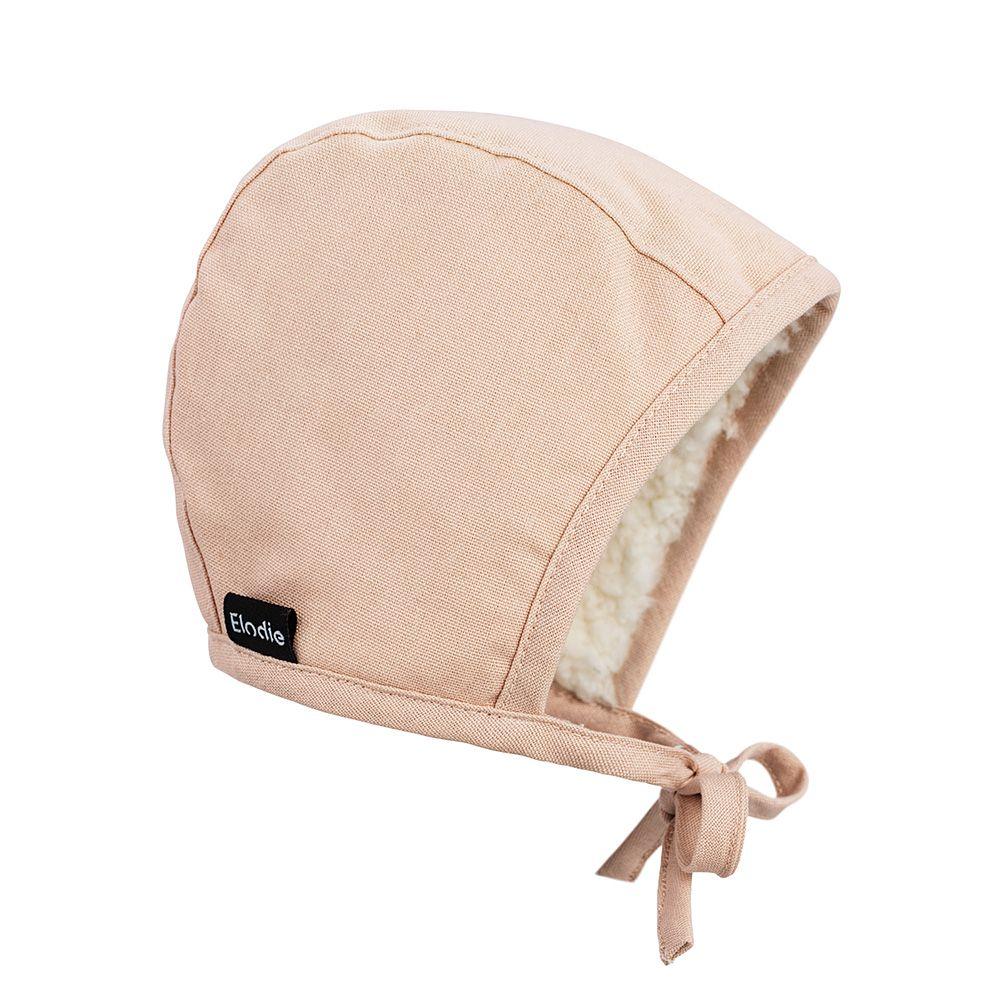 Elodie Details - Czapka Winter Bonnet - Powder Pink - 3-6 m-cy