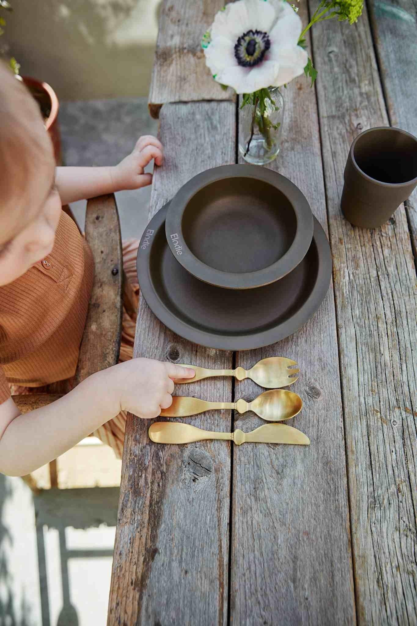 Elodie Details - Zestaw obiadowy dla dzieci - Chocolate