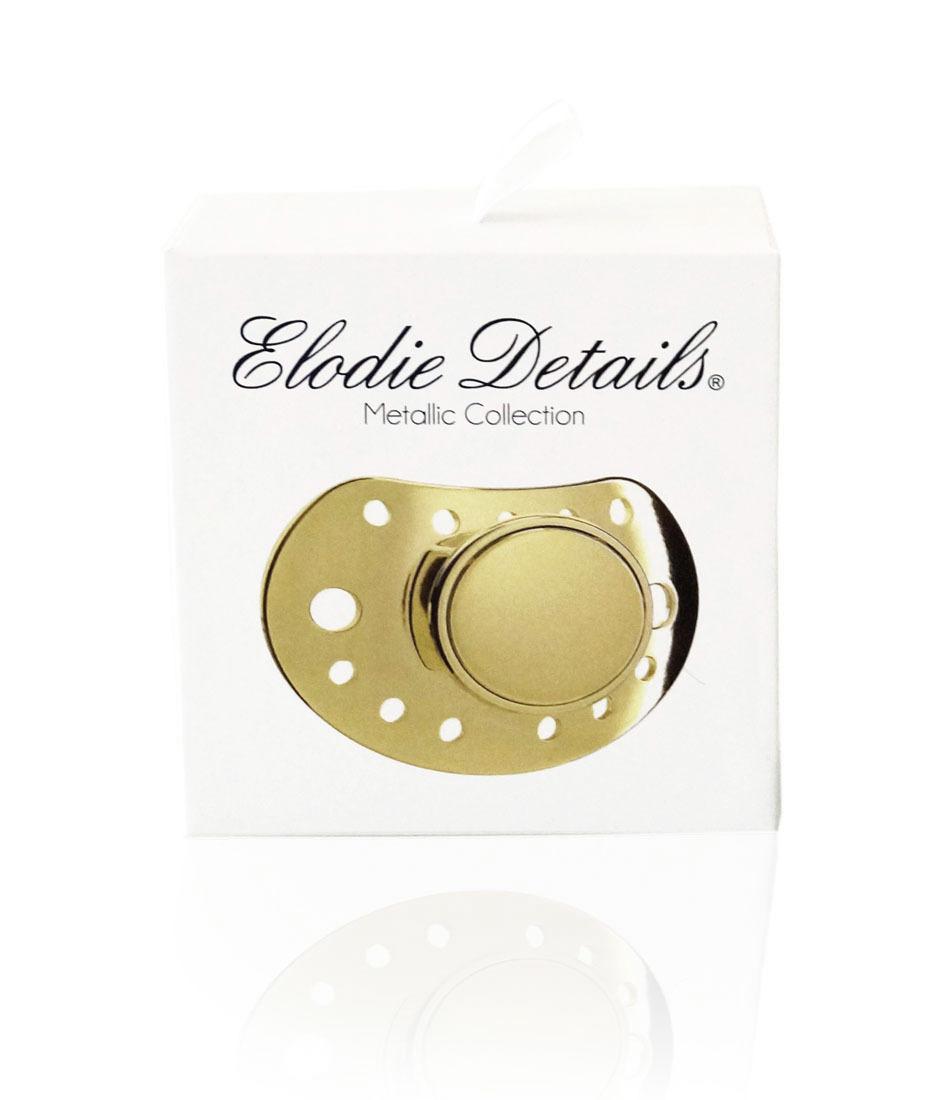 Elodie Details - Smoczek uspokajający 3 m+, Exclusive Gold Edition
