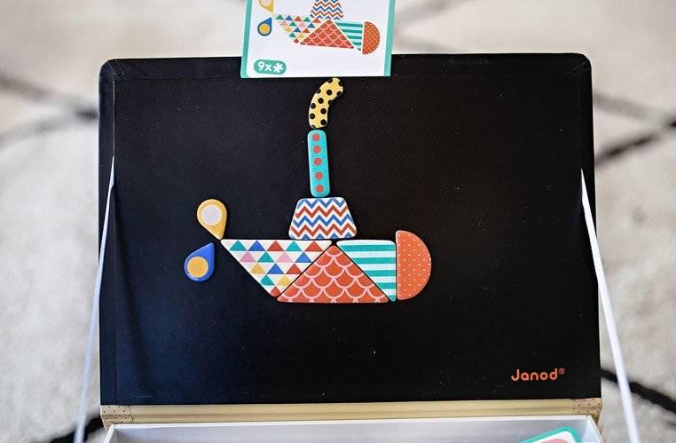 Janod – Magnetyczna układanka Kształty Magnetibook kolekcja 2018