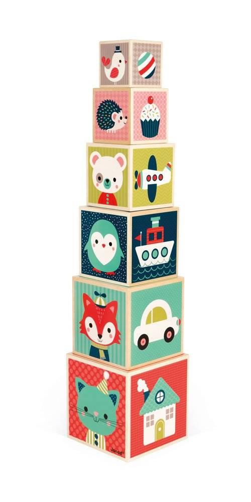 Janod - Piramida wieża drewniana Baby Forest