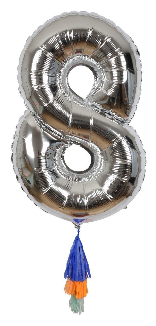 Meri Meri – Balon Cyfra 8 Srebrny