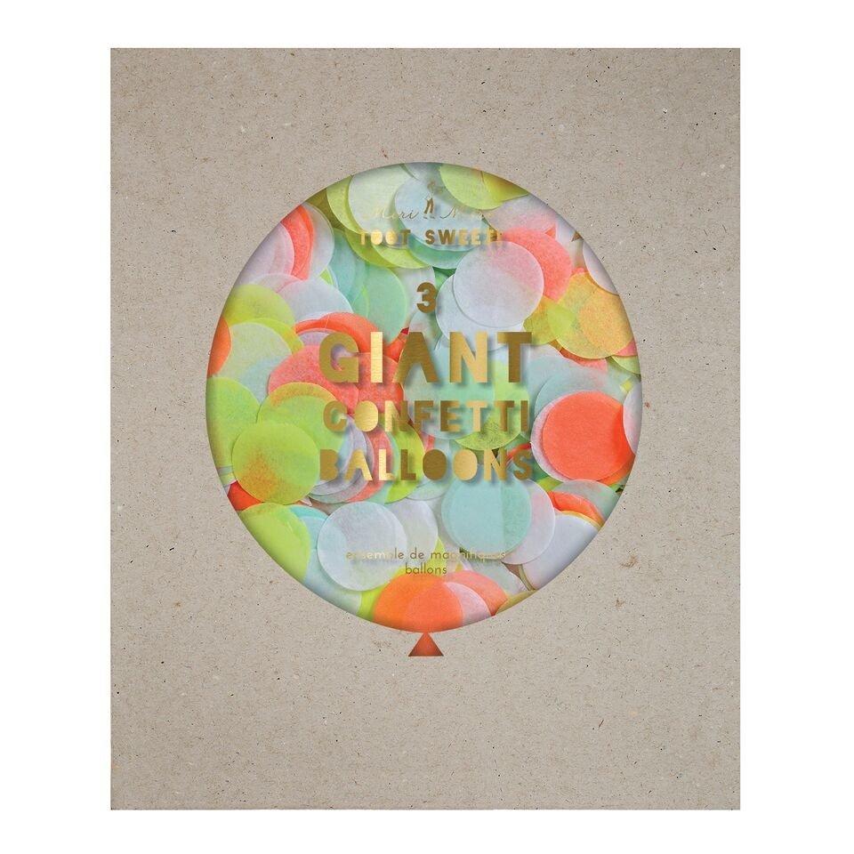 Meri Meri – Balon gigant Konfetti neonowe