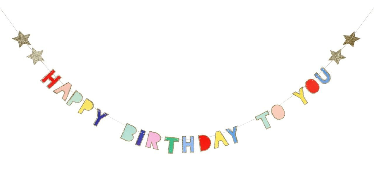 Meri Meri – Girlanda Happy Birthday Kolorowa