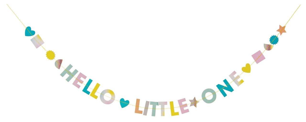 Meri Meri – Kartka okolicznościowa z girlandą Hello Little One