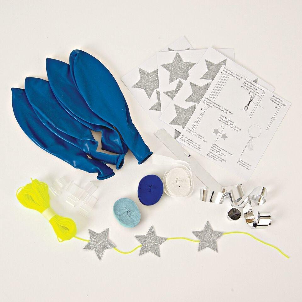 Meri Meri – Zestaw balonów z ozdobami Niebieski