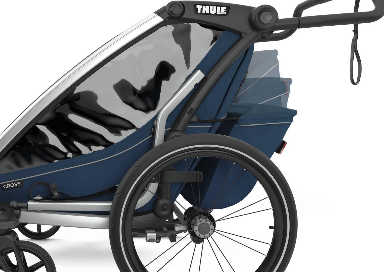 Przyczepka rowerowa dla dziecka - THULE Chariot Cross 2 - Majolica Blue