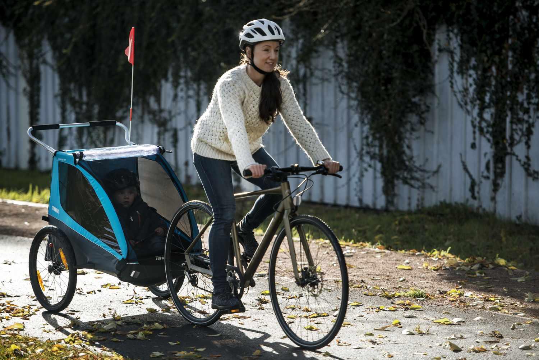 Przyczepka rowerowa dla dziecka, podwójna - THULE Coaster ...