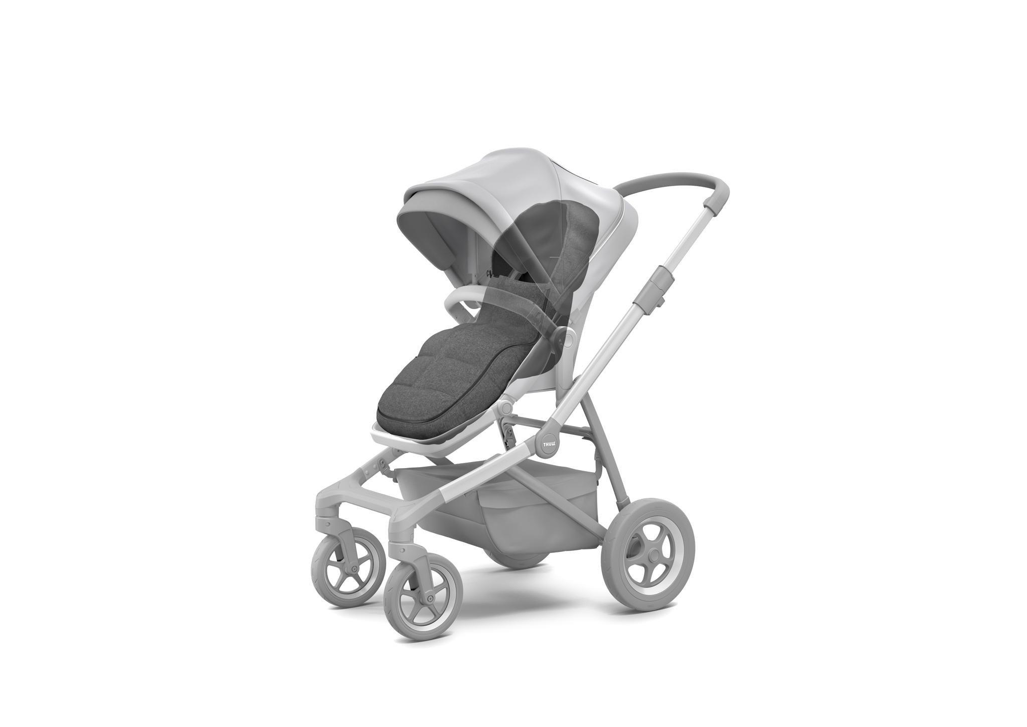 Thule Sleek/Spring/Urban Glide/Glide- śpiworek do wózka - Grey Melange