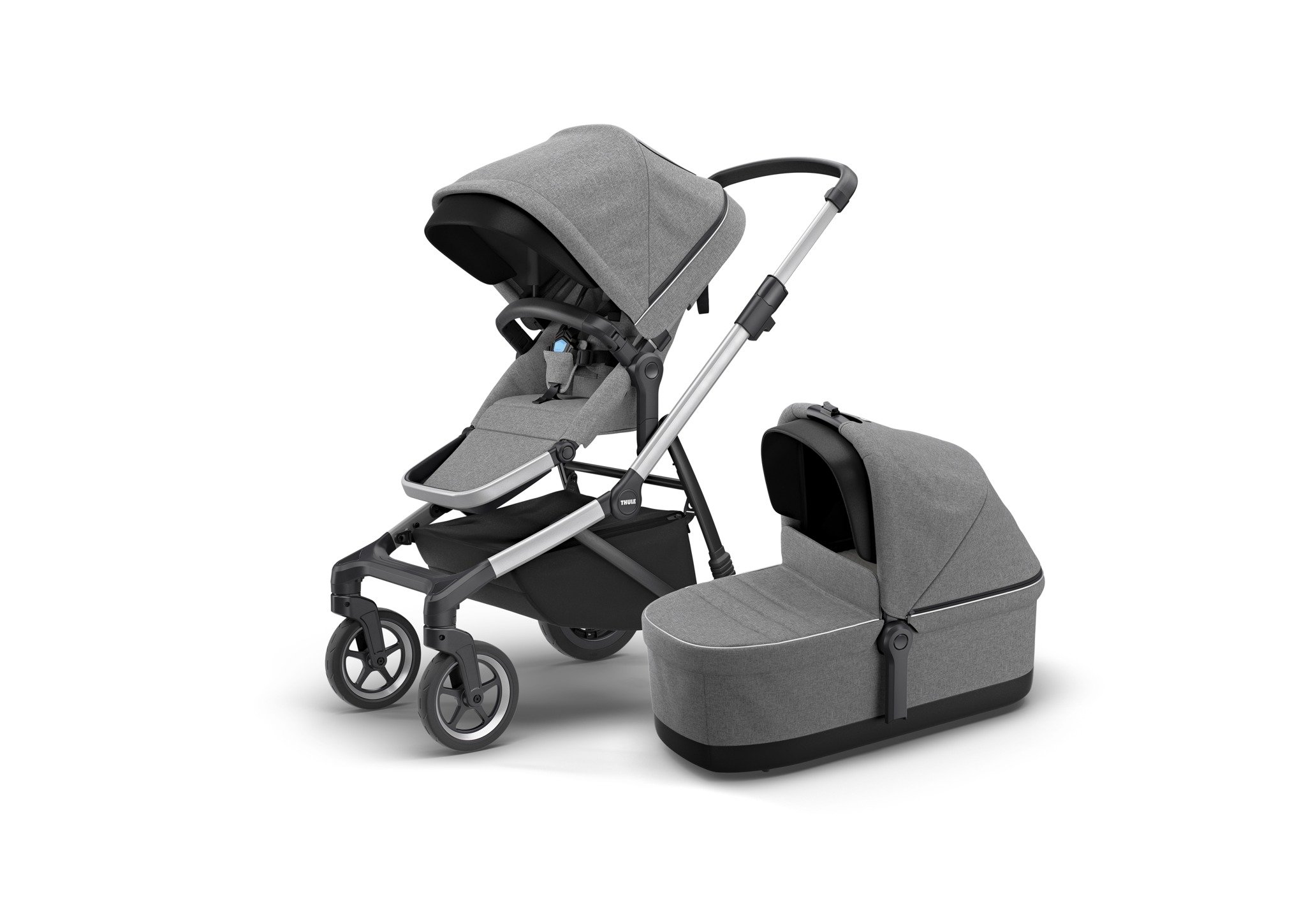 Thule Sleek Grey Melange siedzisko spacerowe + gondola