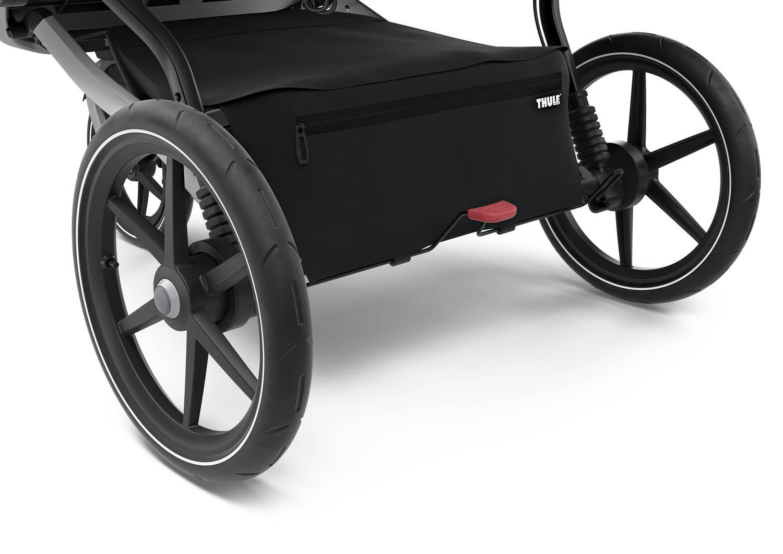 Thule - Wózek Urban Glide 2 Double Aluminium/Jet Black