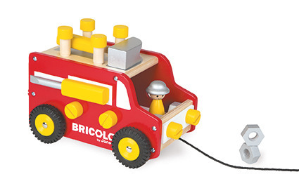 Janod - Ciężarówka z narzędziami do ciągnięcia Bricolo