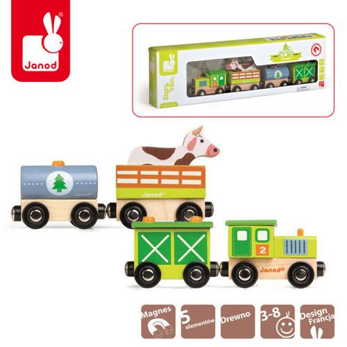 Janod - Farma pociąg drewniany