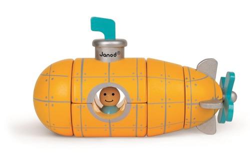 Janod - Łódź podwodna drewniana magnetyczna
