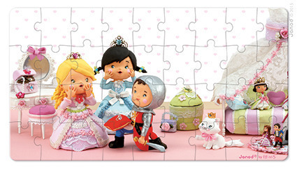 Janod - Puzzle 2w1 Róża bawi się w księżniczkę