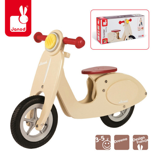 Janod - Rowerek biegowy waniliowy Scooter