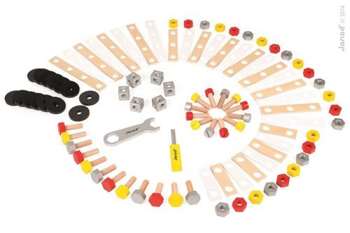 Janod - Zestaw konstruktora 100 elementów