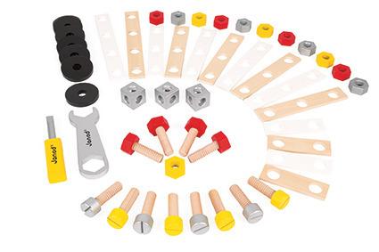 Janod - Zestaw konstruktora 50 elementów