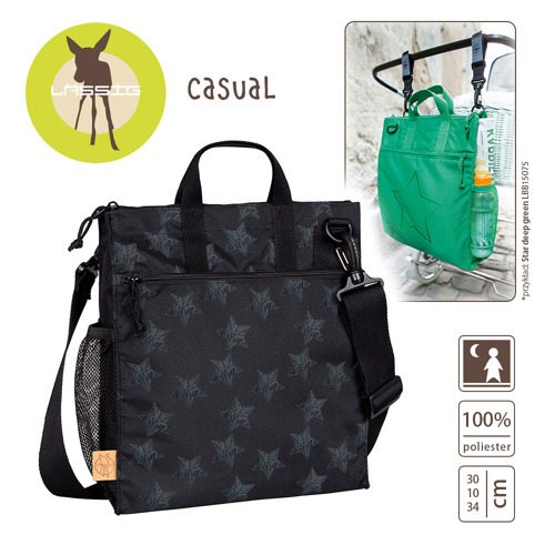 Lassig - Casual Label Torba do Wózka Reflective Star black