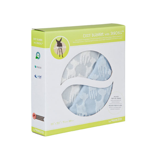 Lassig - Ekologiczny Kocyk SeaCell Lela pastelowy niebieski