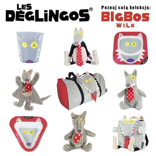 Les Deglingos - Torba Podróżna Wilk BigBos
