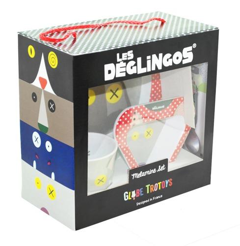 Les Deglingos - Zestaw z melaminy Wilk Bigbos