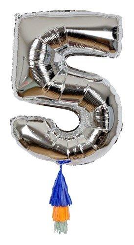 Meri Meri – Balon Cyfra 5 Srebrny