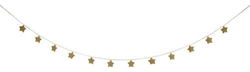 Meri Meri - Girlanda pluszowe Gwiazdki złote