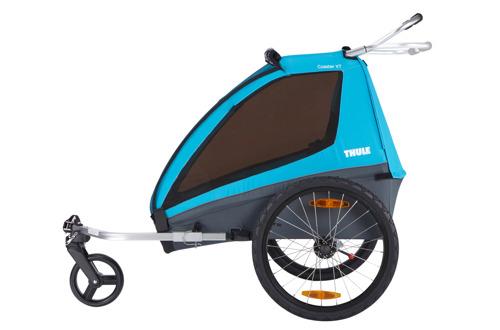 THULE Coaster XT podwójna przyczepka rowerowa dla dziecka - niebieska