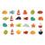 Janod - Magnesy drewniane Ocean 24 sztuki