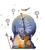 Janod - Naklejka z miarką wzrostu Indianie