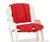 Poduszka do krzesła DanChair - COMFORT czerwona